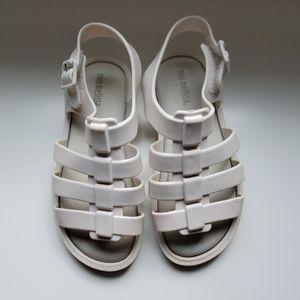 Mini Melissa white sandals, size 10